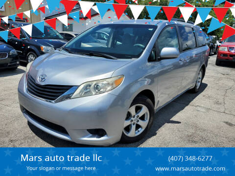 2013 Toyota Sienna for sale at Mars auto trade llc in Kissimmee FL