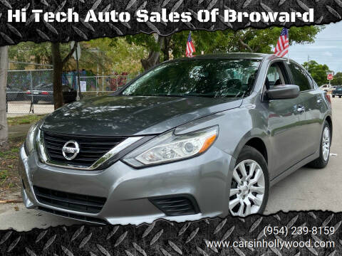 2016 Nissan Altima for sale at Hi Tech Auto Sales Of Broward in Hollywood FL