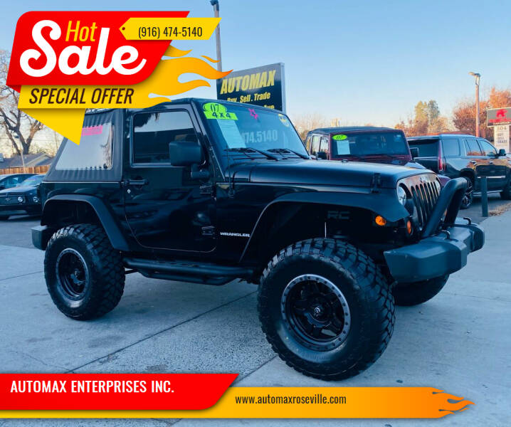 2007 Jeep Wrangler for sale at AUTOMAX ENTERPRISES INC. in Roseville CA