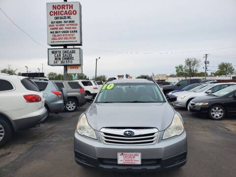 2010 Subaru Outback for sale at North Chicago Car Sales Inc in Waukegan IL