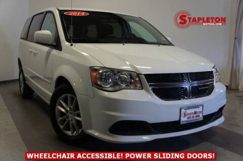 2014 Dodge Grand Caravan for sale at STAPLETON MOTORS in Commerce City CO