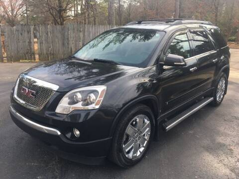 2010 GMC Acadia for sale at Deme Motors in Raleigh NC