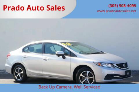 2015 Honda Civic for sale at Prado Auto Sales in Miami FL