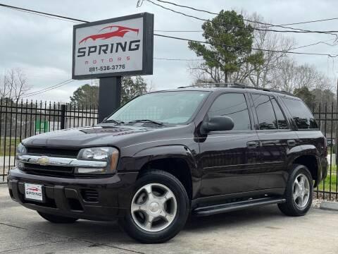 2008 Chevrolet TrailBlazer for sale at Spring Motors in Spring TX