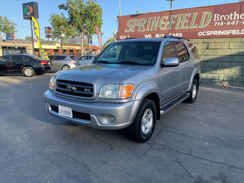 2002 Toyota Sequoia for sale at SPRINGFIELD BROTHERS LLC in Fullerton CA