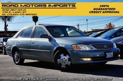 2003 Toyota Avalon for sale at Road Motors Imports in El Cajon CA