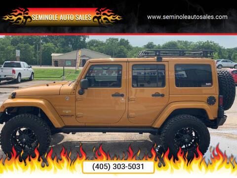 2014 Jeep Wrangler Unlimited for sale at Seminole Auto Sales in Seminole OK