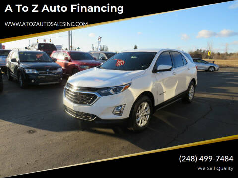2018 Chevrolet Equinox for sale at A to Z Auto Financing in Waterford MI