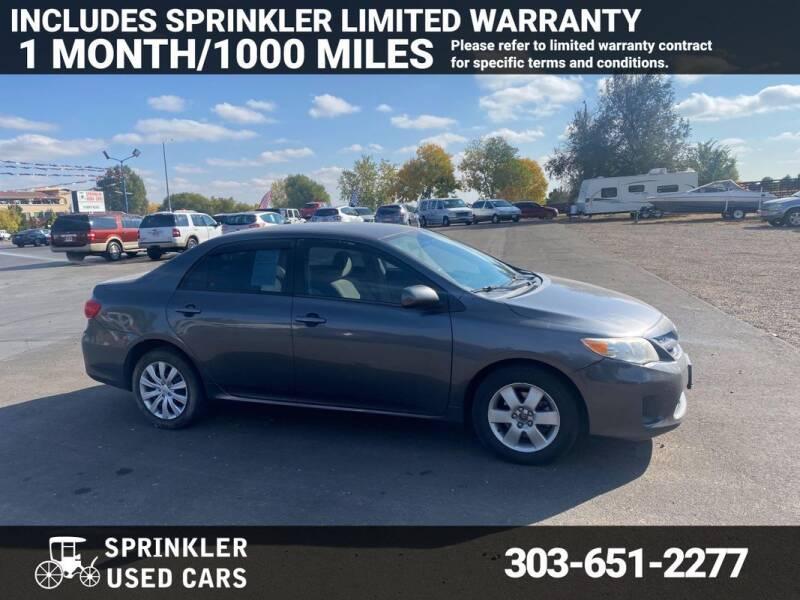 2012 Toyota Corolla for sale at Sprinkler Used Cars in Longmont CO