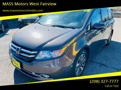 2014 Honda Odyssey for sale at M.A.S.S. Motors - West Fairview in Boise ID