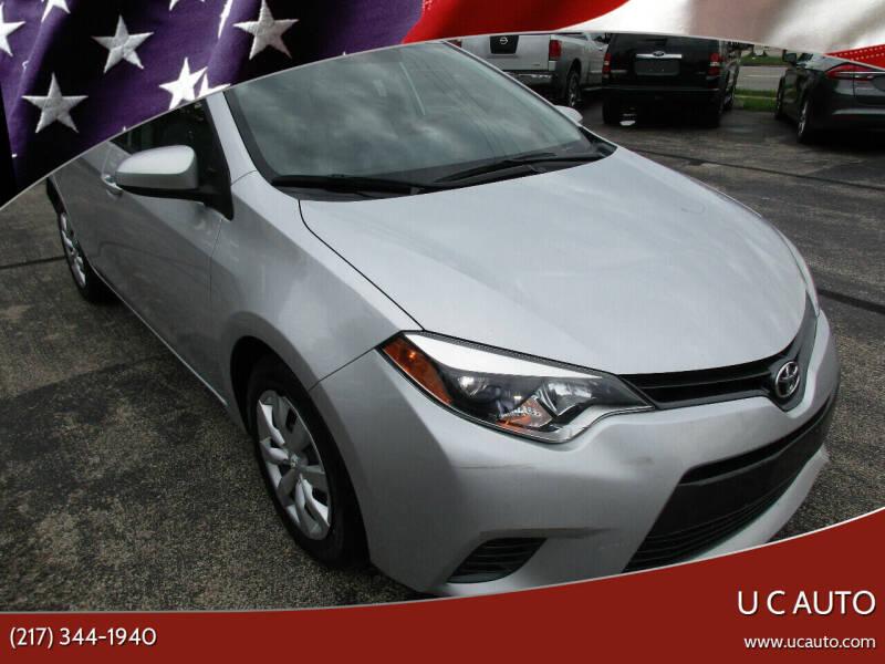 2015 Toyota Corolla for sale at U C AUTO in Urbana IL