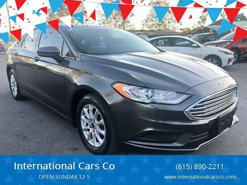 2017 Ford Fusion for sale at International Cars Co in Murfreesboro TN