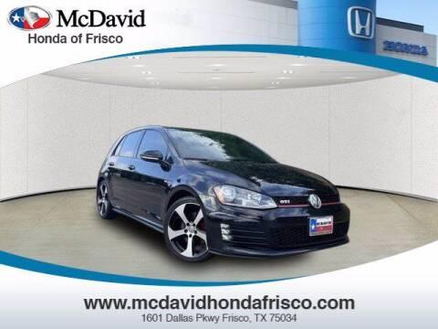 2015 Volkswagen Golf GTI for sale at DAVID McDAVID HONDA OF IRVING in Irving TX