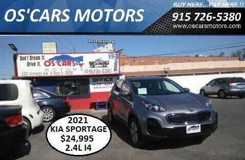 2021 Kia Sportage for sale at Os'Cars Motors in El Paso TX