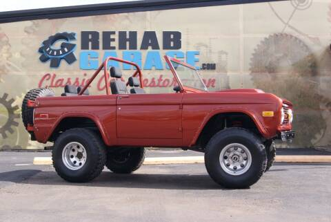 1971 Ford Bronco for sale at Rehab Garage, LLC in Tomball TX