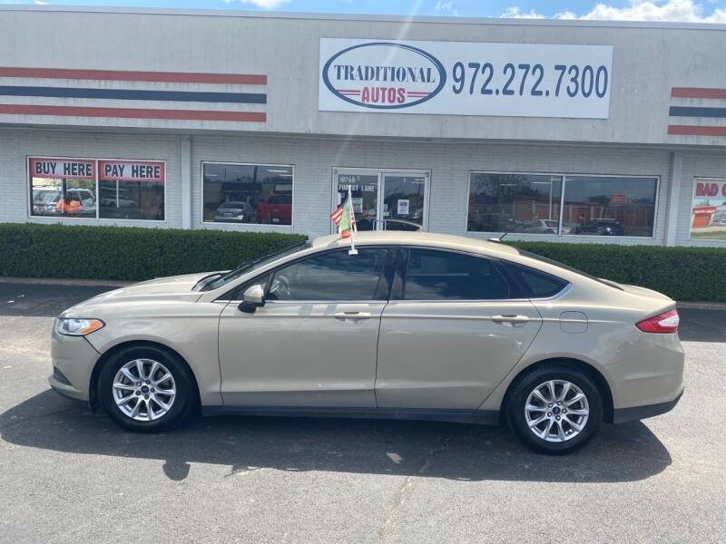 2015 Ford Fusion for sale at Traditional Autos in Dallas TX