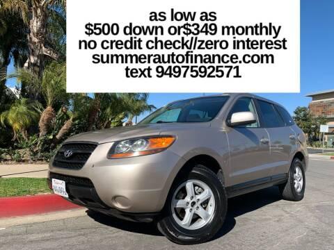 2007 Hyundai Santa Fe for sale at SUMMER AUTO FINANCE in Costa Mesa CA