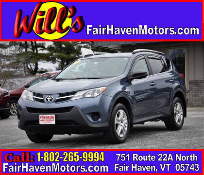 2013 Toyota RAV4 for sale at Will's Fair Haven Motors in Fair Haven VT