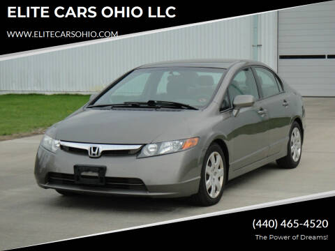 2008 Honda Civic for sale at ELITE CARS OHIO LLC in Solon OH