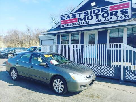 2007 Honda Accord for sale at EASTSIDE MOTORS in Tulsa OK