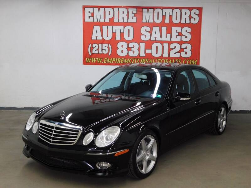 2009 Mercedes-Benz E-Class for sale at EMPIRE MOTORS AUTO SALES in Philadelphia PA