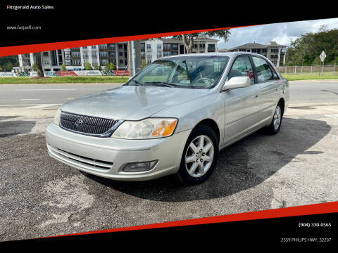2000 Toyota Avalon for sale at Fitzgerald Auto Sales in Jacksonville FL