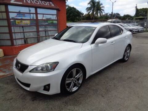 2011 Lexus IS 250 for sale at Z MOTORS INC in Hollywood FL