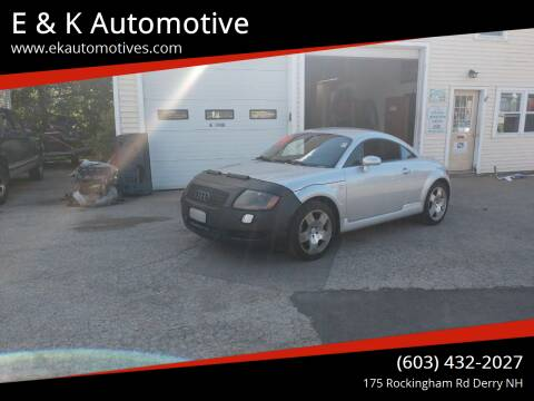 2001 Audi TT for sale at E & K Automotive in Derry NH