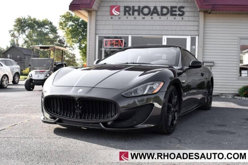 2016 Maserati GranTurismo for sale at Rhoades Automotive in Columbia City IN