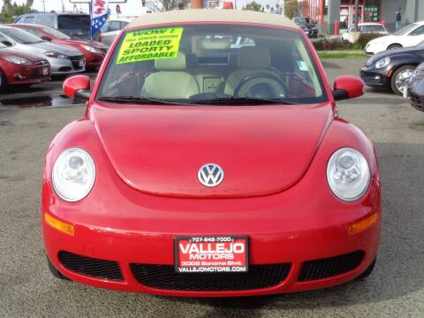 2008 Volkswagen New Beetle Convertible for sale at Vallejo Motors in Vallejo CA