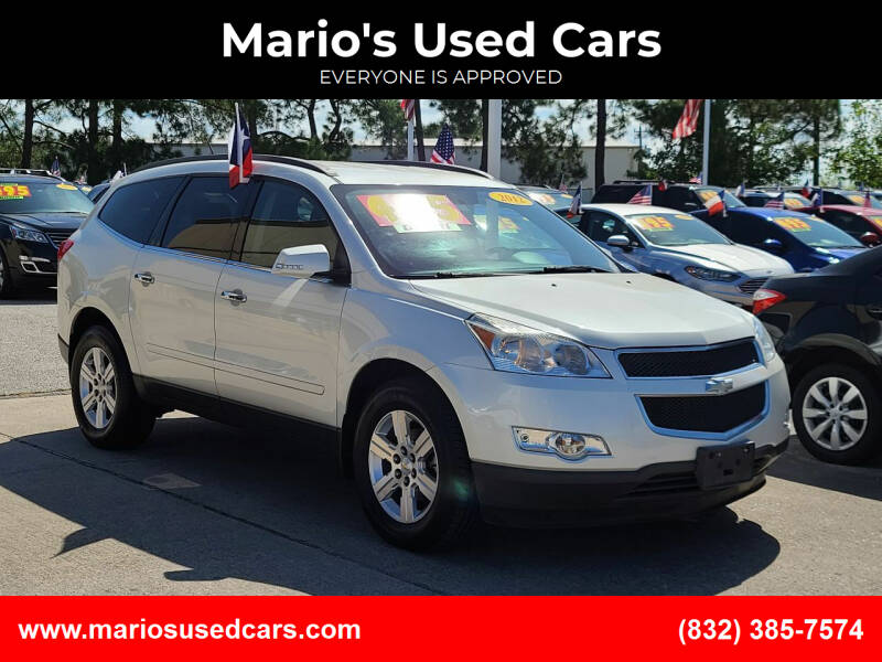 2012 Chevrolet Traverse for sale at Mario's Used Cars in Houston TX