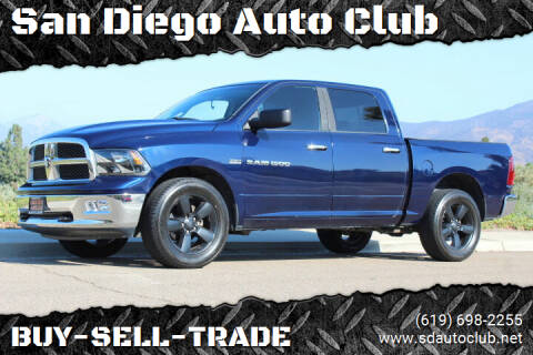 2012 RAM Ram Pickup 1500 for sale at San Diego Auto Club in Spring Valley CA