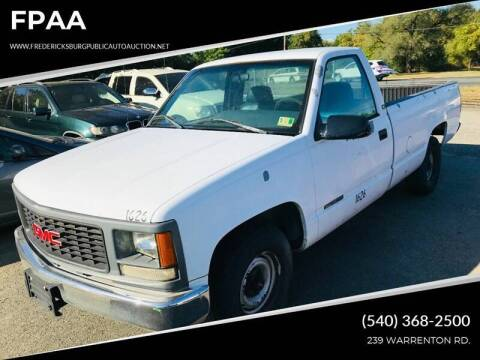 1995 GMC Sierra 1500 for sale at FPAA in Fredericksburg VA