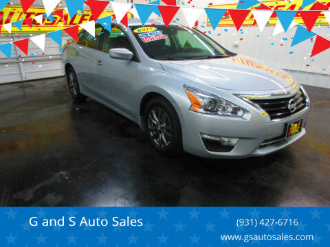 2015 Nissan Altima for sale at G and S Auto Sales in Ardmore TN
