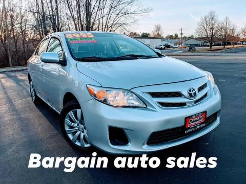 2012 Toyota Corolla for sale at Bargain Auto Sales LLC in Garden City ID