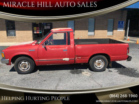 1986 Nissan Truck for sale at MIRACLE HILL AUTO SALES in Greenville SC