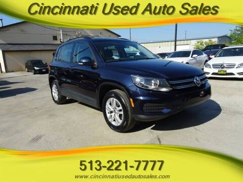2016 Volkswagen Tiguan for sale at Cincinnati Used Auto Sales in Cincinnati OH