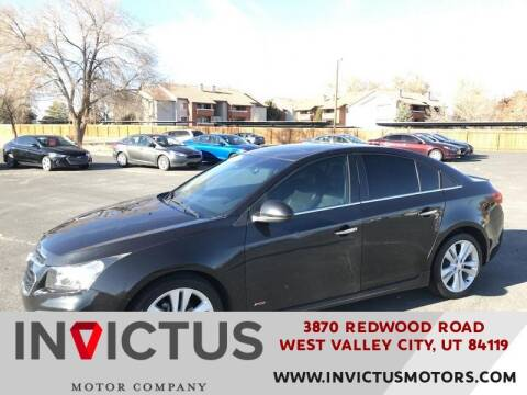 2015 Chevrolet Cruze for sale at INVICTUS MOTOR COMPANY in West Valley City UT