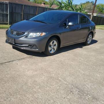 2013 Honda Civic for sale at MOTORSPORTS IMPORTS in Houston TX