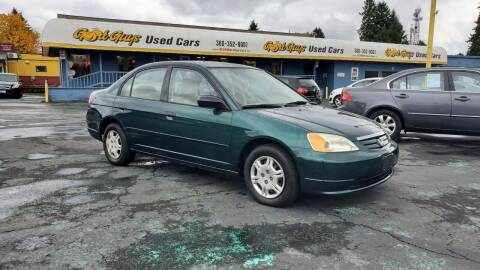2001 Honda Civic for sale at Good Guys Used Cars Llc in East Olympia WA