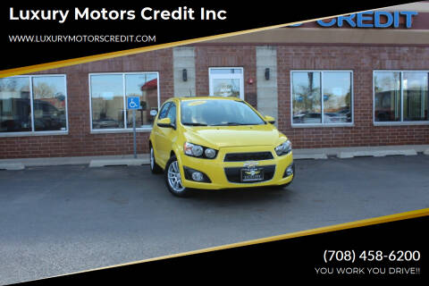 2016 Chevrolet Sonic for sale at Luxury Motors Credit Inc in Bridgeview IL