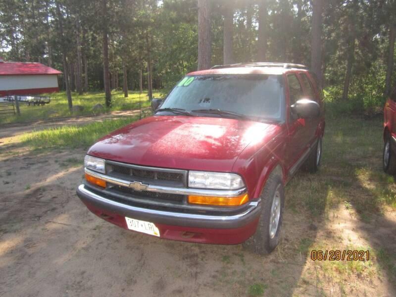 2000 Chevrolet Blazer for sale at SUNNYBROOK USED CARS in Menahga MN