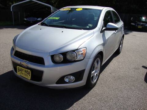 2015 Chevrolet Sonic for sale at Easy Ride Auto Sales Inc in Chester VA