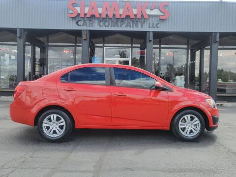 2012 Chevrolet Sonic for sale at Siamak's Car Company llc in Salem OR
