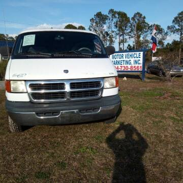1998 Dodge Ram Van for sale at MOTOR VEHICLE MARKETING INC in Hollister FL
