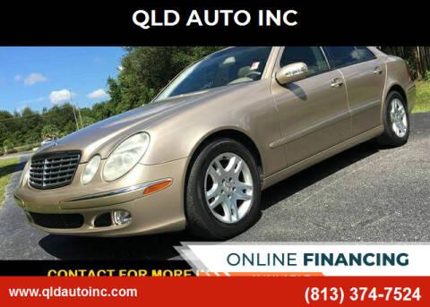 2003 Mercedes-Benz E-Class for sale at QLD AUTO INC in Tampa FL