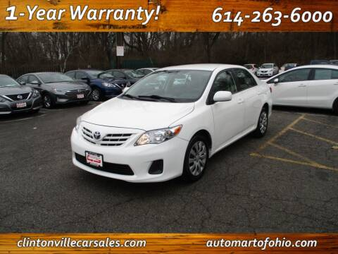 2013 Toyota Corolla for sale at Clintonville Car Sales - AutoMart of Ohio in Columbus OH