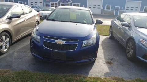 2012 Chevrolet Cruze for sale at Pool Auto Sales Inc in Spencerport NY
