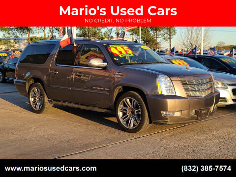 2012 Cadillac Escalade ESV for sale at Mario's Used Cars in Houston TX