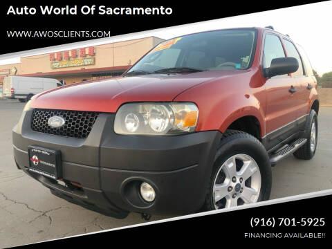 2007 Ford Escape for sale at Auto World of Sacramento Stockton Blvd in Sacramento CA